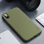 For iPhone XS Max iPAKY Starry Series Shockproof Straw Material + TPU Protective Case(Army Green)