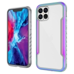 For iPhone 12 Armor Metal Clear PC + TPU Shockproof Case(Colorful)