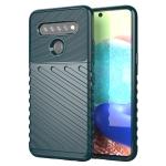 For LG K61 Thunderbolt Shockproof TPU Protective Soft Case(Green)