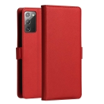 For Samsung Galaxy Note 20 DZGOGO MILO Series PC + PU Horizontal Flip Leather Case with Holder & Card Slot & Wallet(Red)