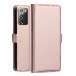 For Samsung Galaxy Note 20 Ultra DZGOGO MILO Series PC + PU Horizontal Flip Leather Case with Holder & Card Slot & Wallet(Rose Gold)