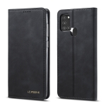 For Samsung Galaxy A21s LC.IMEEKE LC-002 Series Skin Hand Feeling PU + TPU Horizontal Flip Leather Case with Holder & Card Slot & Wallet(Black)
