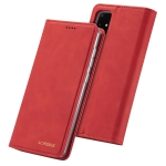 For Samsung Galaxy A41 LC.IMEEKE LC-002 Series Skin Hand Feeling PU + TPU Horizontal Flip Leather Case with Holder & Card Slot & Wallet(Red)