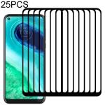 For Motorola Moto G Fast 25 PCS Full Glue Full Screen Tempered Glass Film