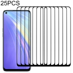For OPPO Realme 6 25 PCS Full Glue Full Screen Tempered Glass Film