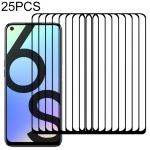 For OPPO Realme 6s 25 PCS Full Glue Full Screen Tempered Glass Film