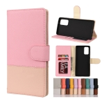 For Samsung Galaxy Note20 Color Splicing Horizontal Flip Leather Case with Holder & Card Slots & Wallet & Photo Frame(Pink)