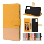 For Samsung Galaxy Note20 Ultra Color Splicing Horizontal Flip Leather Case with Holder & Card Slots & Wallet & Photo Frame(Yellow)
