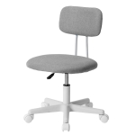 [JPN Warehouse] PP193834CAA Swivel Lift Chair Office Chair Desk Chair with Casters, Size: 45 x 42cm, Height Range: 70.5-79.5cm(Grey)