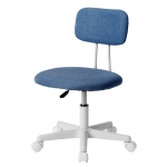 [JPN Warehouse] PP193834GAA Swivel Lift Chair Office Chair Desk Chair with Casters, Size: 45 x 42cm, Height Range: 70.5-79.5cm(Navy Blue)