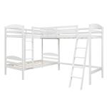 [US Warehouse] LP000023AAK L-shaped Bunk Beds Snd Loft Beds, Size: 119x80x75 inch