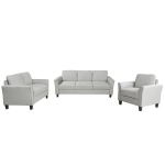 [US Warehouse] LP000012NAA Three+Double+Single Sofa, Size: 76x29x33 inches, 53.7x29x33 inches, 31.1x29x33 inch