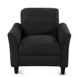 [US Warehouse] WF191002AAB Living Room Home Single Sofa, Size: 31.1x29x33 inch(Black)