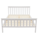 [EU Warehouse] WF192321WAA Adult and Child White Pine Double Bed, Size: 140x200cm