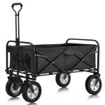 [EU Warehouse] MS193280SAA Outdoor Foldable Trolley with Wide Brake Wheel/Mesh Cup Holder/Adjustable Handle/Fabric Bag