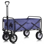 [EU Warehouse] MS193280CAA Outdoor Foldable Trolley with Wide Brake Wheel/Mesh Cup Holder/Adjustable Handle/Fabric Bag