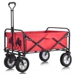[EU Warehouse] MS193280RAA Outdoor Foldable Trolley with Wide Brake Wheel/Mesh Cup Holder/Adjustable Handle/Fabric Bag