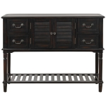 [US Warehouse] Console Table Sideboard Entryway Sofa Table with Shutter Doors and 4 Storage Drawers, Size: 115 x 38 x 87cm(Espresso)