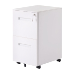 [US Warehouse] Lock Design Office File Cabinet with Wheels, Size: 48 x 39 x 63cm(White)