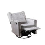 [US Warehouse] Manually Rotating Sofa Recliner(Light Gray)