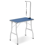 [UK Warehouse] WF188606AAA Portable Adjustable Stainless Steel Dog Pet Grooming Table Dresser, Size: 78×48.5x76cm