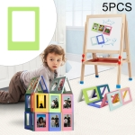 5 PCS Creative Variety Combination Magnetic Photo Frame, Inner Frame Size: 6.2×4.5cm (Green)