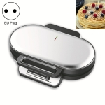 Household Waffle Maker Toaster Double Dish Heating Mini Breakfast Machine Sandwich Electric Cake Baking Machine, EU Plug