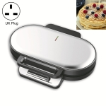 Household Waffle Maker Toaster Double Dish Heating Mini Breakfast Machine Sandwich Electric Cake Baking Machine, UK Plug