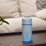 Large Capacity 320ml LED Automatic Humidifier Sprayer, Battery Version (Blue)