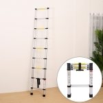 Multifunctional Thickened Aluminum Alloy Single-sided Telescopic Ladder, Size: 1.4m