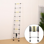 Multifunctional Thickened Aluminum Alloy Single-sided Telescopic Ladder, Size: 2.6m