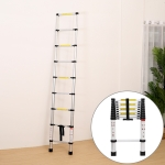 Multifunctional Thickened Aluminum Alloy Single-sided Telescopic Ladder, Size: 2.9m