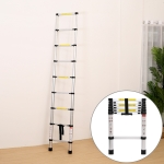 Multifunctional Thickened Aluminum Alloy Single-sided Telescopic Ladder, Size: 2m