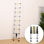 Multifunctional Thickened Aluminum Alloy Single-sided Telescopic Ladder, Size: 4.4m