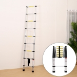 Multifunctional Thickened Aluminum Alloy Single-sided Telescopic Ladder, Size: 5m