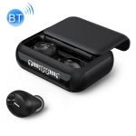 HM70 TWS Bluetooth 5.0 Touch Wireless Bluetooth Earphone with Sliding Cover Magnetic Charging Box & Three LED Power Displays, Support HD Call & Siri (Black)