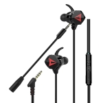 G5 1.2m Wired In Ear 3.5mm Interface Stereo Wire-Controlled HIFI Earphones Video Game Mobile Game Headset With Mic (Black)