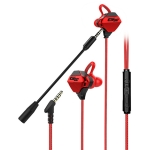 G10-A Wired In Ear 3.5mm Interface Stereo Wire-Controlled HIFI Earphones Video Game Mobile Game Headset With Mic (Red)