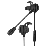 G6 Wired In Ear 3.5mm Interface Stereo Wire-Controlled HIFI Earphones Video Game Mobile Game Headset With Mic (Black)