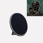 Household Creative Pearl Board Flannel Jewelry Rack Earrings Storage Display Stand, Size: S (Black)