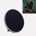 Household Creative Pearl Board Flannel Jewelry Rack Earrings Storage Display Stand, Size: M (Black)