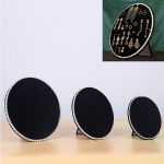1 Set Household Creative Pearl Board Flannel Jewelry Rack Earrings Storage Display Stand (Black)