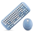 Mofii CADNY Pink Girl Heart Mini Mixed Color Wireless Keyboard Mouse Set(Blue)