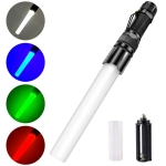 RGBW IPX5 Waterproof Telescopic Zoom LED Flashlight with 5-levels Dimming(Black)
