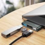 USAMS US-SJ463 USB-C to 2 USB 3.0 / TF HUB Mini Converter