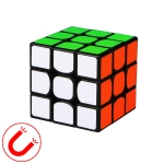 Moyu QIYI M Series Magnetic Speed Magic Cube Three Layers Cube Puzzle Toys (Black)