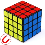 Moyu Mr. M Series Magnetic Cube Twisty Puzzle Toy Four Layers Cube Puzzle Toys (Black)
