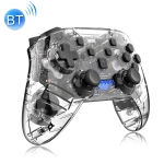 YS01 For Switch Pro Wireless Bluetooth Transparent GamePad Game Handle Controller (Black)