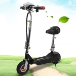 Foldable Portable Electric Bicycle Adult Mini Scooter with Luminous LCD Display & LED Front Light & Horn(Black)