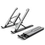Laptop Stand Desktop Raise Bracket Cooling Base Lifting Holder Foldable (Black)